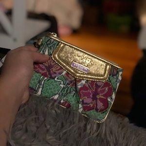 Coach floral satchel
